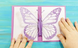 A simple pop-up butterfly card