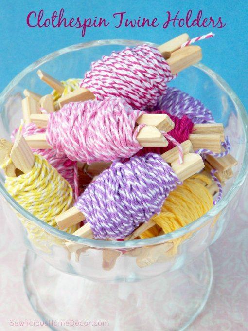 Twine and Floss Holders | Craft Organization Ideas
