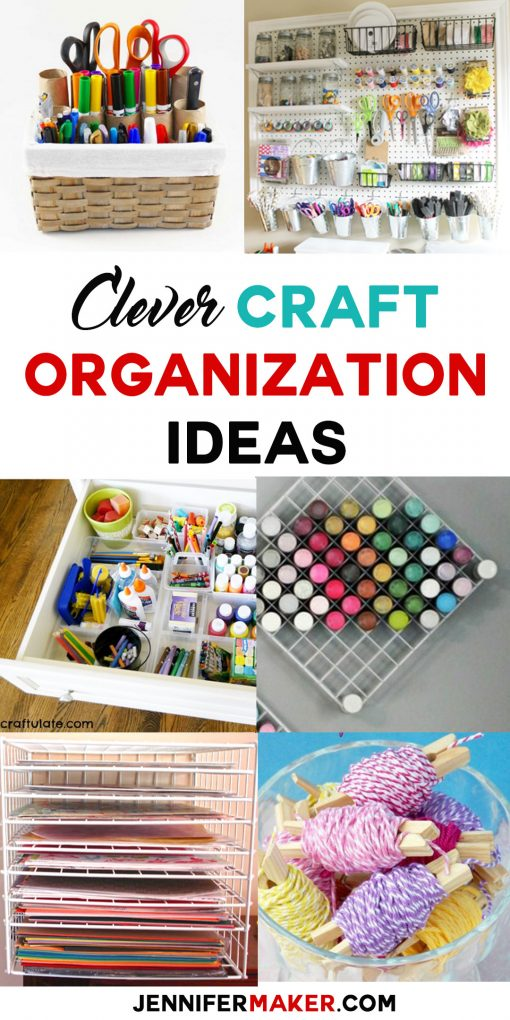 Clever Craft Organization Ideas | Craft Storage Solutions | Paper Storage | Paint Storage