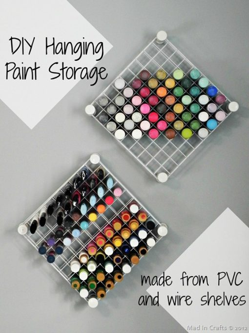 DIY Hanging Paint Storage | Craft Organization Ideas