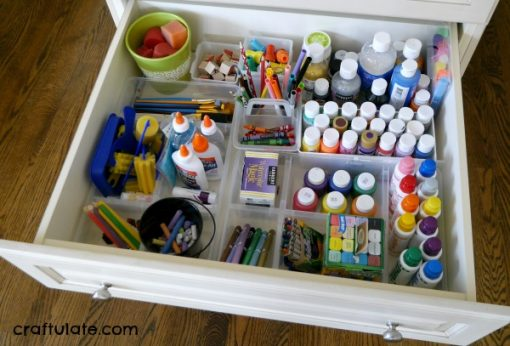Craft Drawer | Organize Your Craft Supplies with Dividers and Containers | Craft Organization Ideas