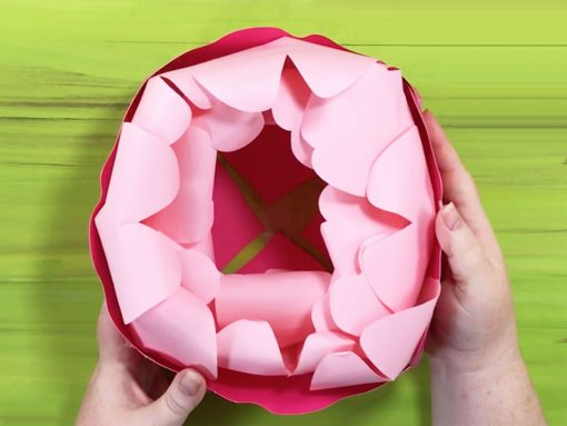 Inner petal 1 attached to giant paper peony