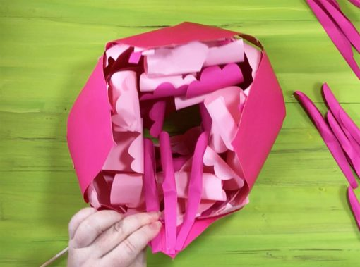 Attach inner petal 4 to the giant paper peony