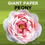 How to Make a Giant Paper Peony | Tutorial with Free SVG Files