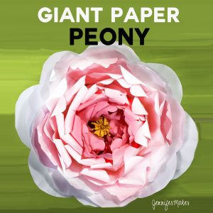 How to Make a Giant Paper Peony | Tutorial with Free Pattern Files