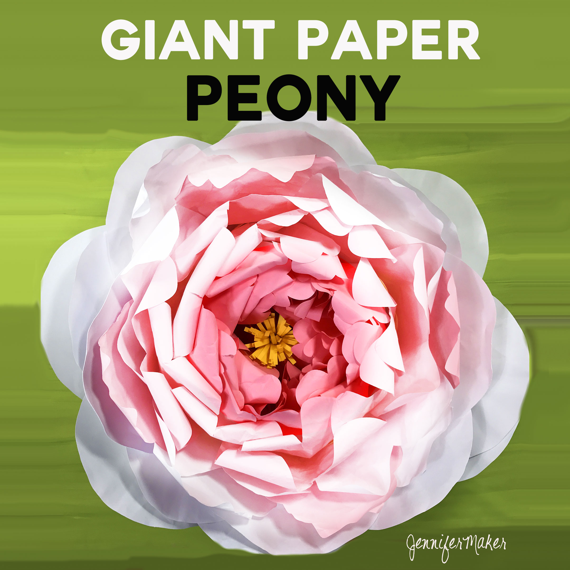 Giant Paper Peony Tutorial With Amazing Detail Jennifer Maker