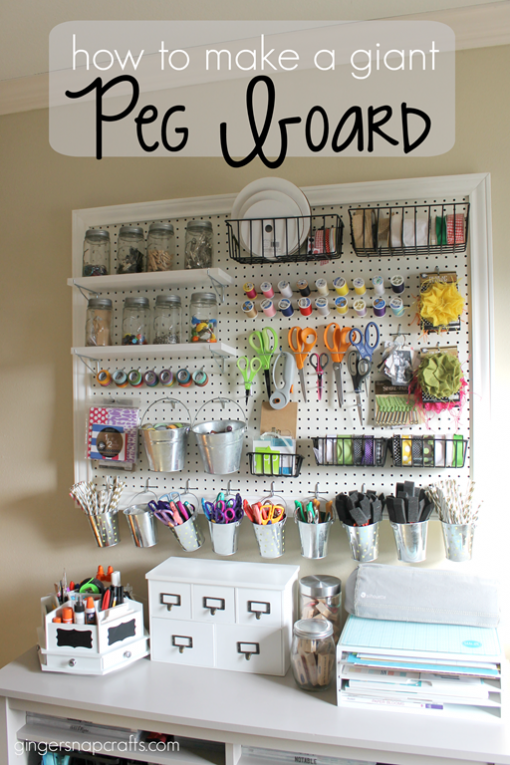 Giant Pegboard | Craft Organization Idea | Craft Storage Tutorial