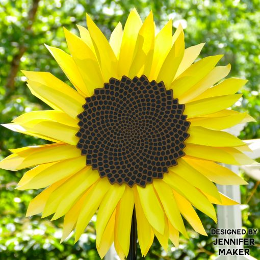 WOW! DIY paper sunflower with free pattern files