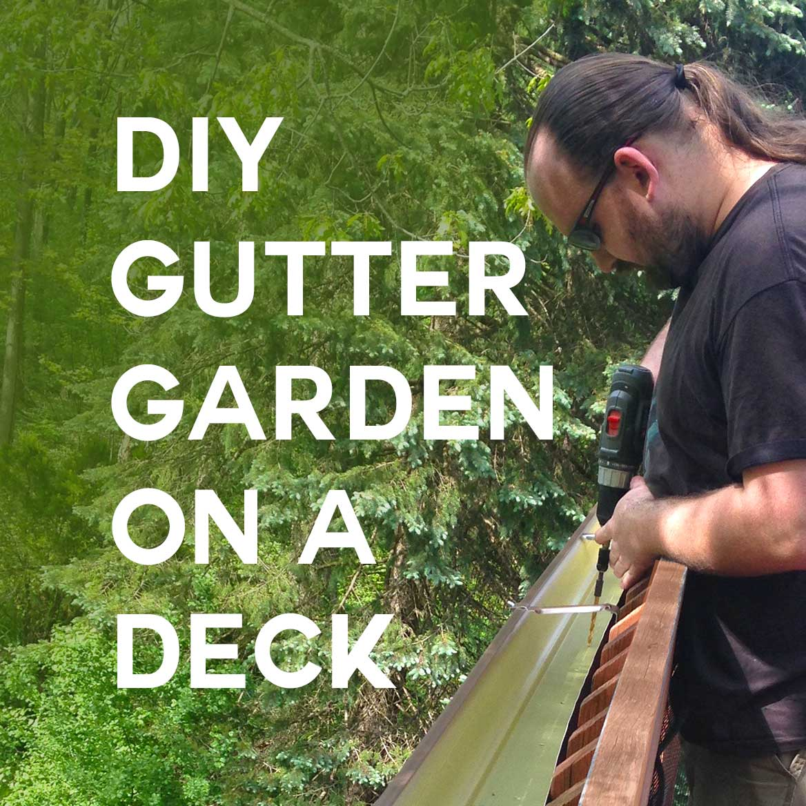 Put a Gutter Garden on a Deck Rail
