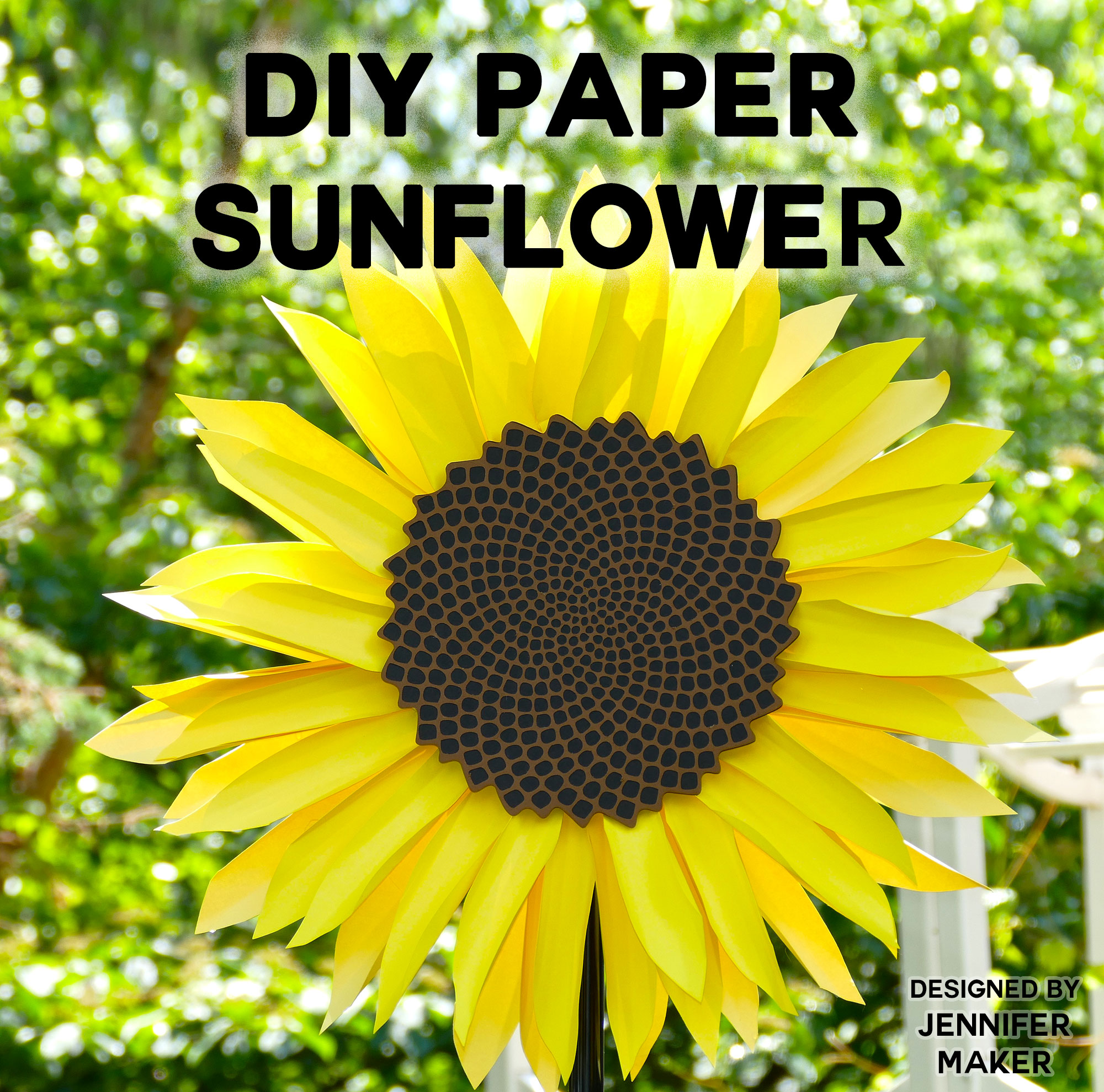 722d0ec29f3 Giant Paper Sunflower Tutorial - This Will Mesmerize You! - Jennifer ...