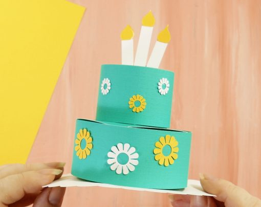 Decorate your pop-up birthday cake card
