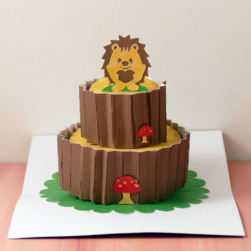 Pop-Up Hedgehog Birthday Cake Card