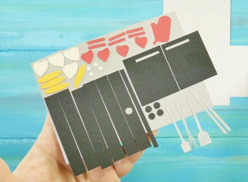 Spray adhesive on the Pop-Up Grill Card | Gift Card Holder | SVG cut Files and Tutorial