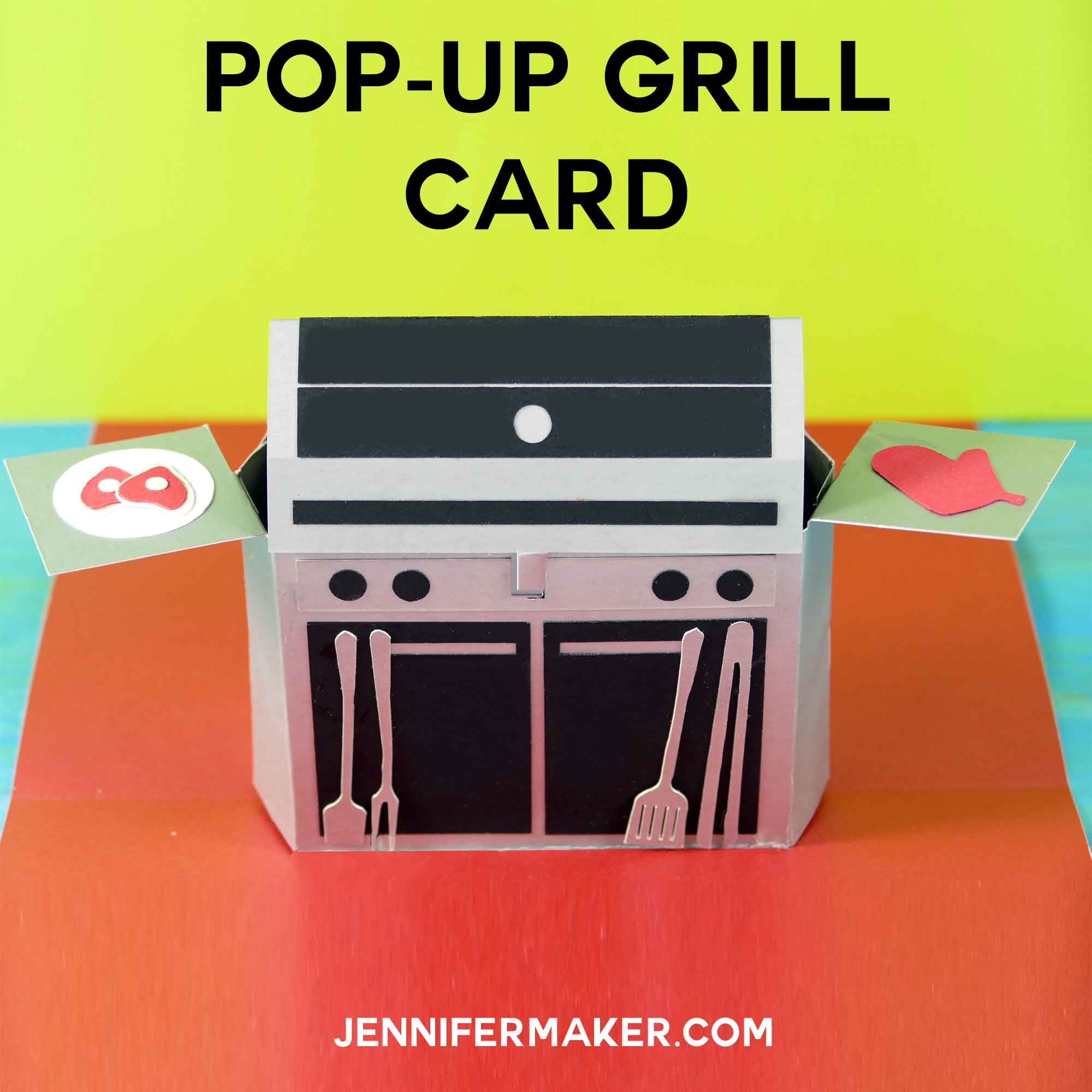 Pop-Up Grill Card | Gift Card Holder | SVG cut Files and Tutorial