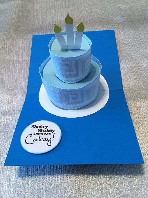 Pop-Up Birthday Cake Card made by JenniferMaker reader Nancy Hudgins
