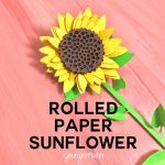 How to make rolled paper sunflowers -- free cut files!