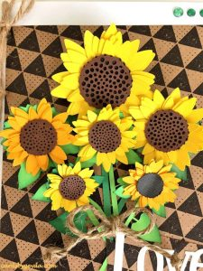 Sunflower Card by reader Misty Morgan