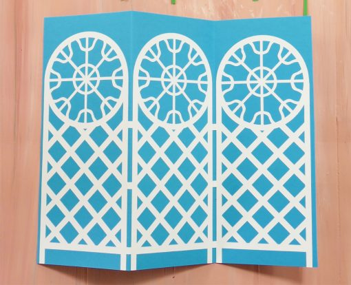 Attach the trellis to the card back for the trellis tri-fold card
