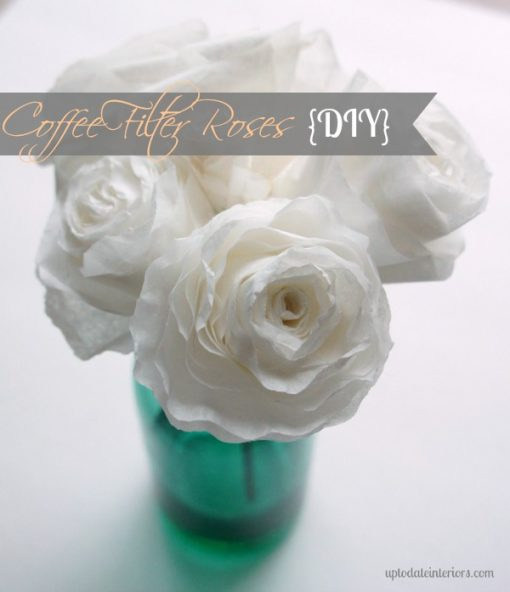 DIY Coffee Filter Flowers | Realistic Petals | All White Roses