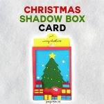 Christmas Tree Shadow Box Card | Cricut | Free Cut Files