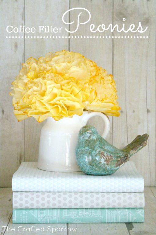 DIY Paper Filter Flowers | Paper Peonies | Tutorial