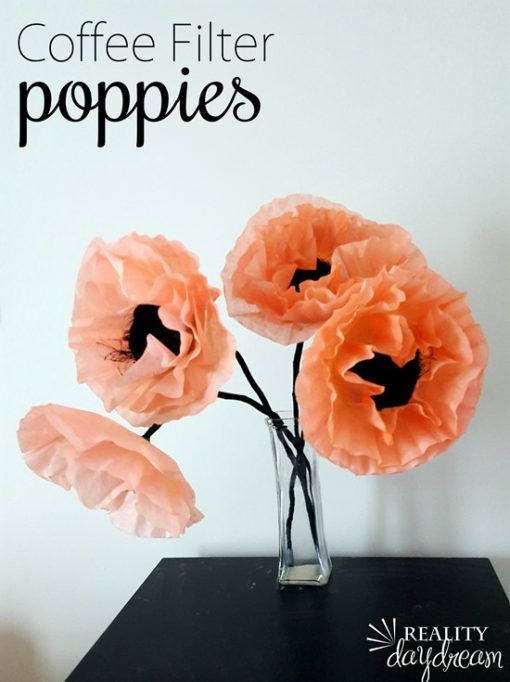 DIY Coffee Filter Flowers | Paper Poppies | Paper Flower Tutorial