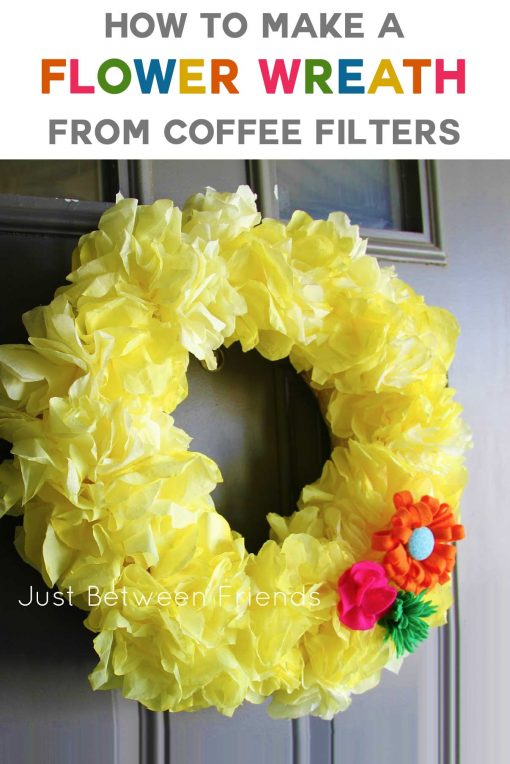 DIY Coffee Filter Flower Wreath Tutorial