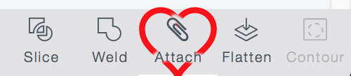 The Attach button is your best friend in Cricut Design Space