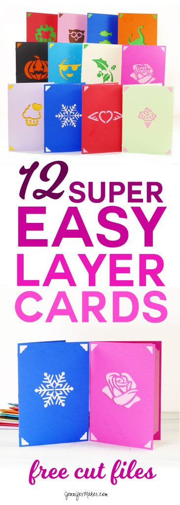 Easy Layers Greeting Card Set 12 More Designs Jennifer Maker