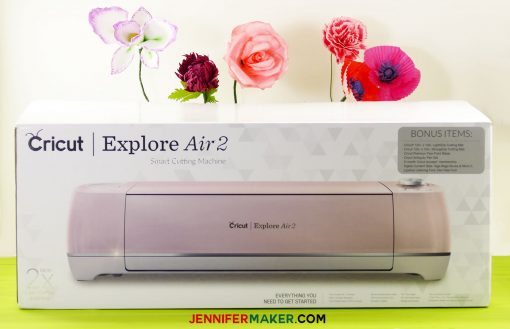 A new Cricut Explore AIr 2 in the box | Rose Gold Cricut | Pink