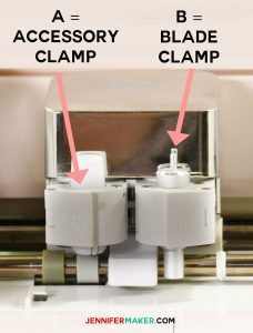 Clamps on the Cricut Explore | Accessory Housing | Blade Housing