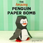 How to make the penguin paper bomb | paper toy | unique papercraft | kamikara