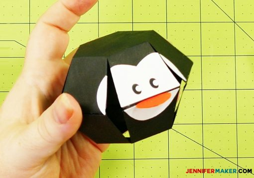 The head piece of the penguin paper bomb