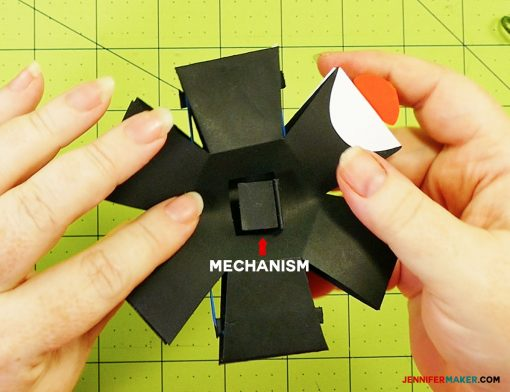 The mechanism underneath the penguin paper bomb