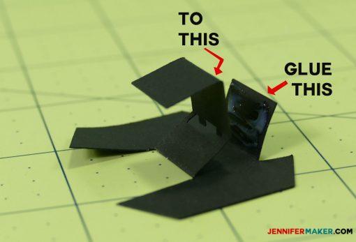 Mechanism of the penguin paper bomb