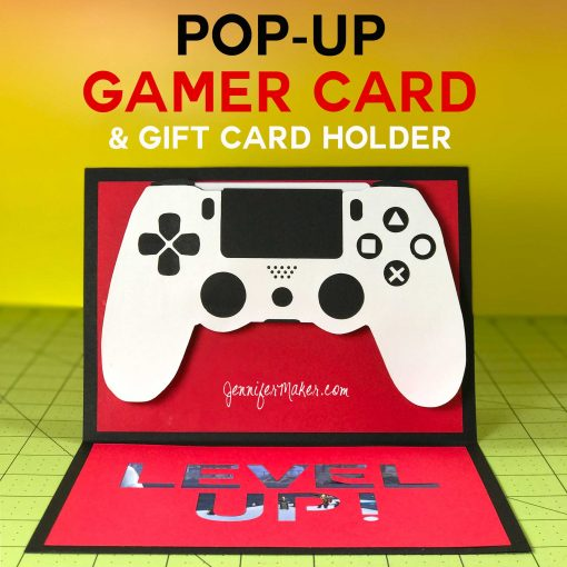 DIY Gamer Card with Gift Card Holder Tutorial | Pop-Up Handmade Card | Cricut 3D Card