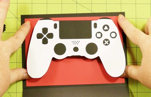 Attach the controller to the pop-up game controller card