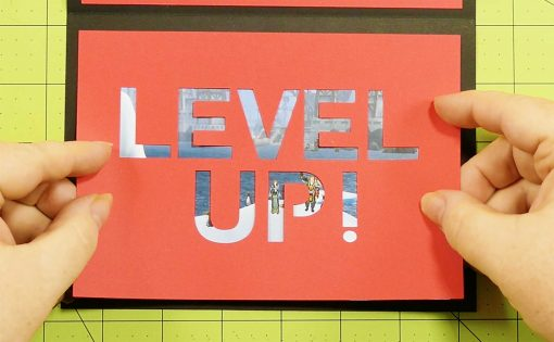Attach the Level Up card to your pop-up game controller card