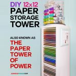 DIY 12x12 Vertical Scrapbook Paper Storage Organizer Tower | IKEA Hack