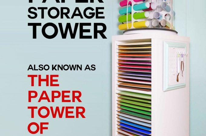 12x12 scrapbook paper storage organizer tower2 jennifer maker. Black Bedroom Furniture Sets. Home Design Ideas