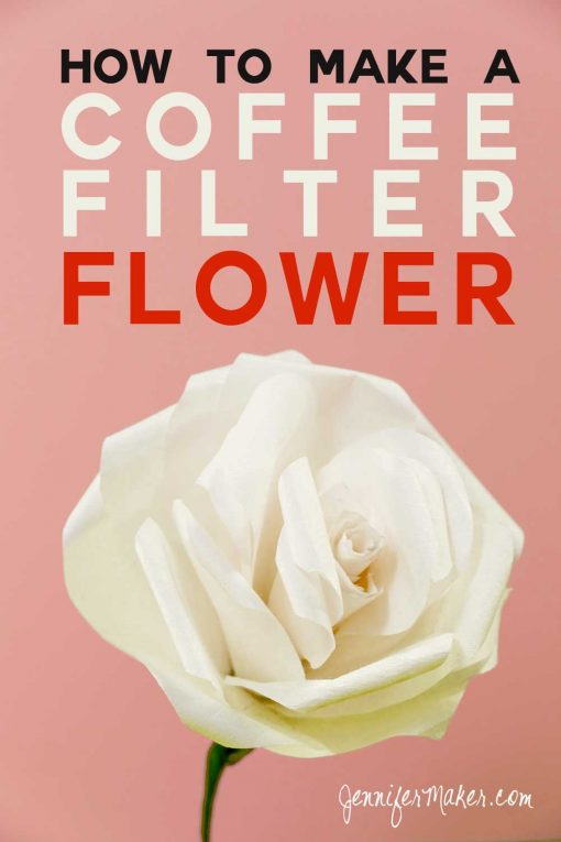 coffee filter flowers roses peonies poppies jennifer maker