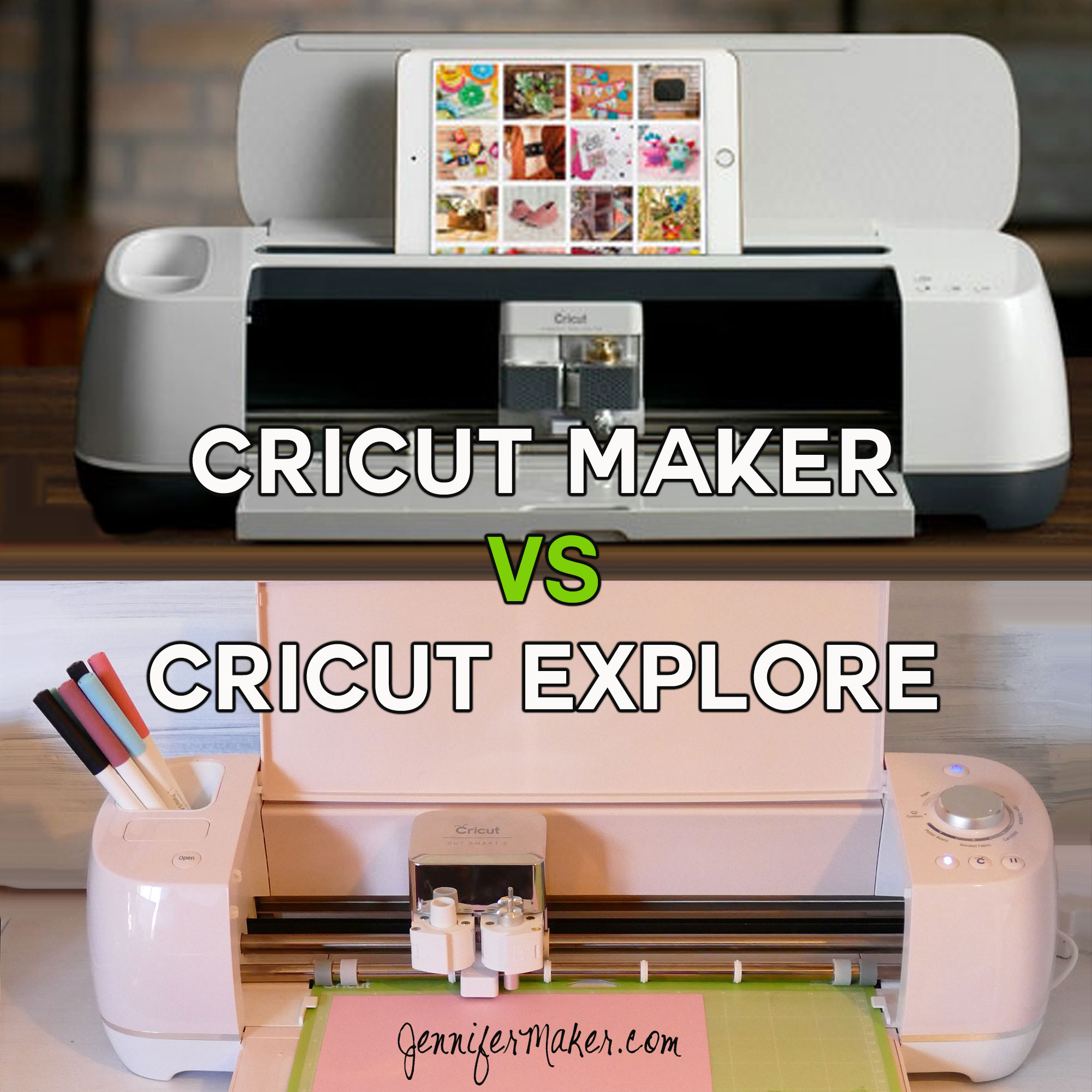 Cricut Maker vs  Cricut Explore: What's Different, What's Best