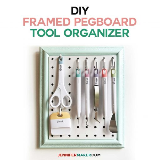 Framed Pegboard Craft Tool Organizer Tutorial - How to Make a DIY Pegboard Frame for Your Craft Tools