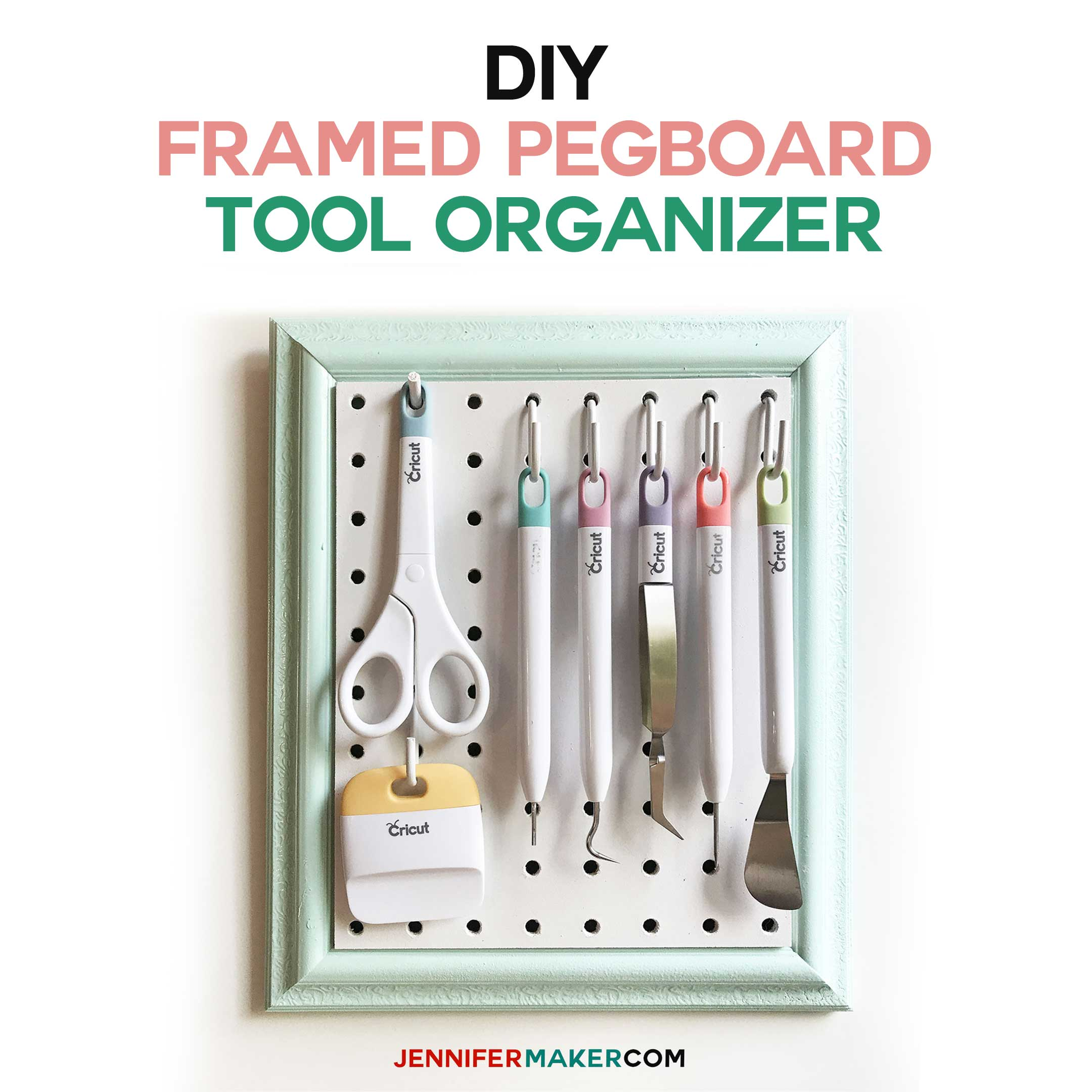 diy framed pegboard craft organizer for tools jennifer maker