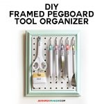 Framed Pegboard Craft Organizer Tutorial - How to Make a DIY Pegboard Frame for Your Craft Tools
