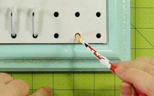 Paint the wood peg white