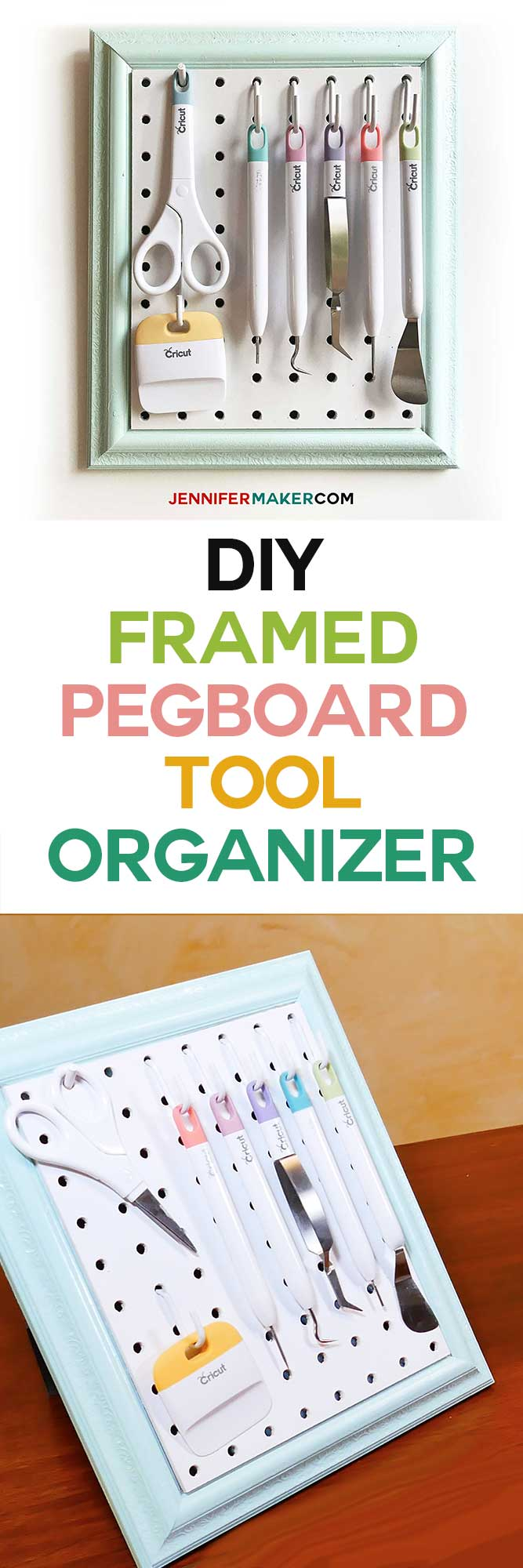 Diy framed pegboard craft organizer for tools jennifer maker framed pegboard craft organizer tutorial how to make a diy pegboard frame for your craft publicscrutiny Images
