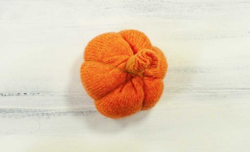 Finished sweater pumpkin