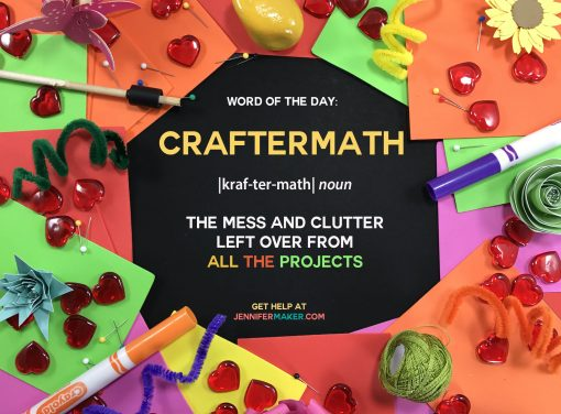 Craftermath - The mess and clutter left over after working on ALL THE PROJECTS