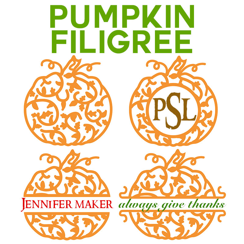 Pumpkin Filigree for Monograms and Names | Free SVG/DXF